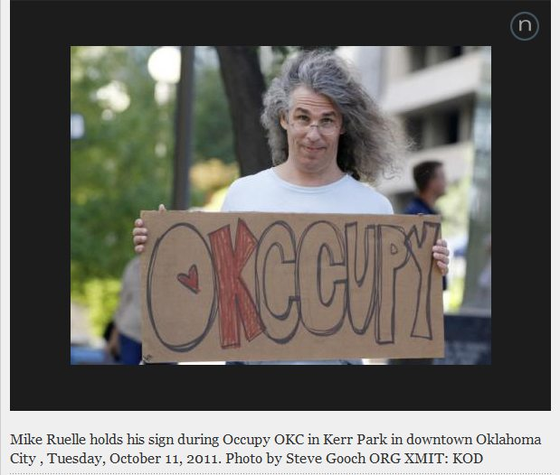 occupy okc sign holder