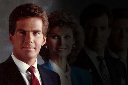 This late 1980s photo of the Channel 5 news team is pretty awesome