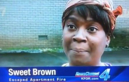 sweet brown cold pop apartment fire