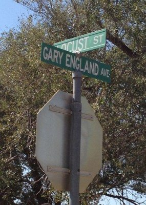 cardboard jim gary england day stop sign