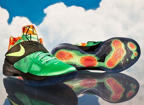 Insane kicks some of the craziest shoes worn by thunder for Kevin durant weatherman shirt