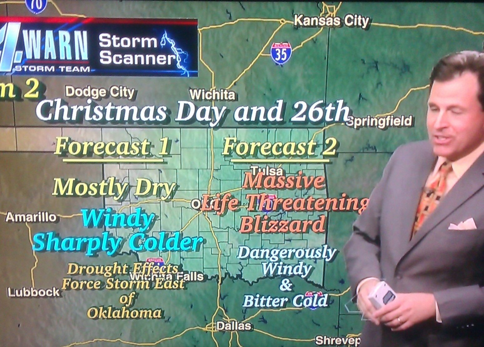 summarizes Oklahoma's severe winter weather coverage hype machine