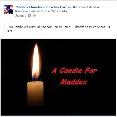 candle for maddox