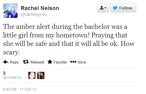 Twitter   racheyyroo  The amber alert during the ...