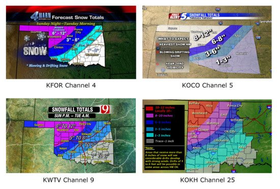 okc snowfall predictions