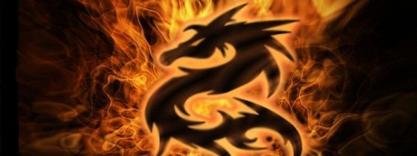 red dragon flame
