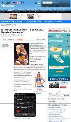 OKC thunder girl chunky CBS houston