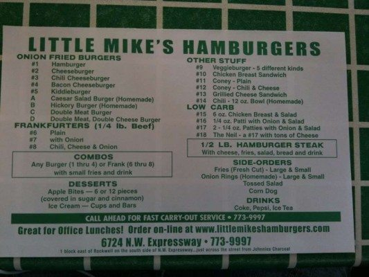 little mikes menu