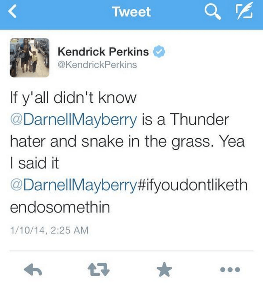 kendrick perkins darnell mayberry