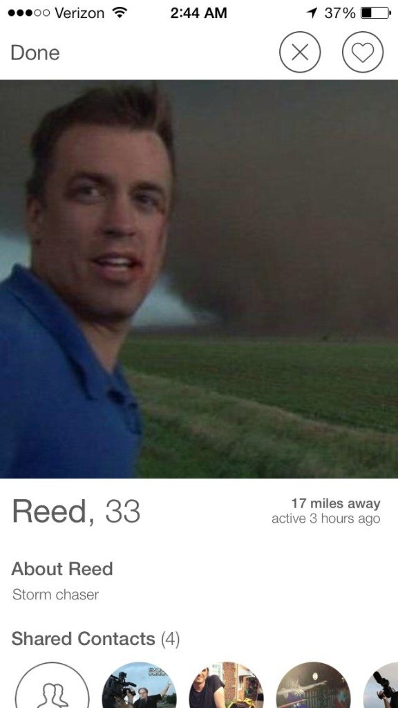 reed timmer online dating profile