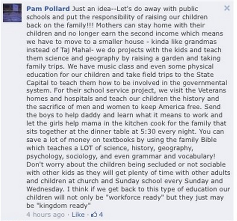 pam pollard facebook post