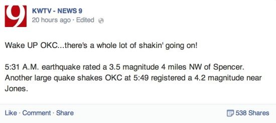 News 9 earthquake