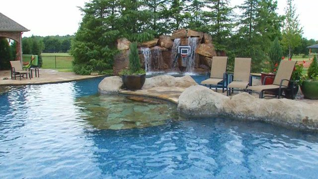 Some rich oklahomans have ridiculous swimming pools the for Pool design okc