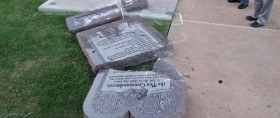10 commandments monument broken