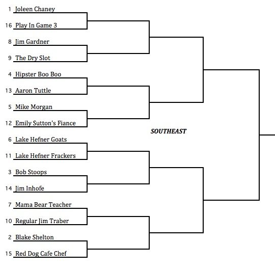 Here s your ogle madness viii bracket the lost ogle for Knockout draw sheet template