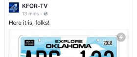 kfor social media bandit license plate