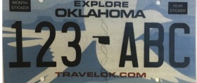 oklahoam license plate