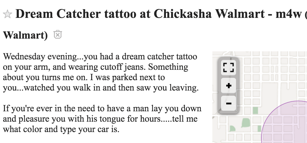 Taking a look at OKC's Craigslist