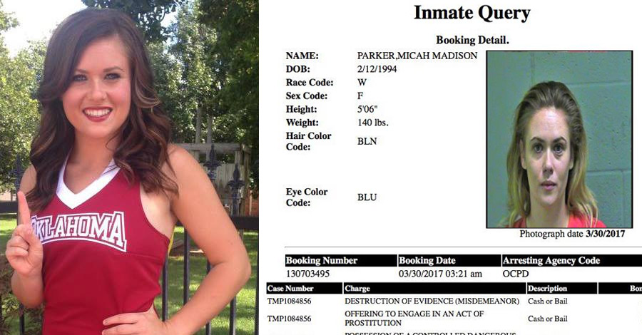 Former Ou Cheerleader Busted In Prostitution Sting