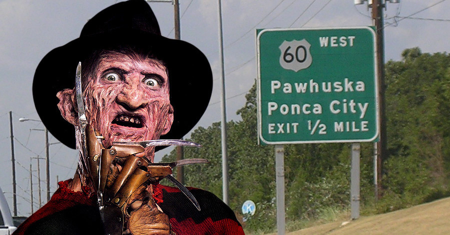 No  Freddy Krueger is not a serial killer from Ponca City